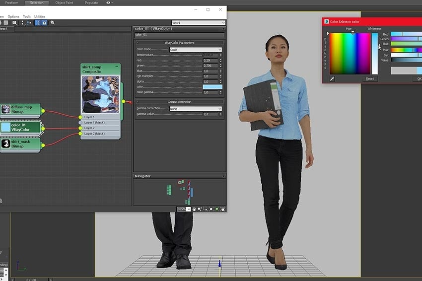 Change Colors of 3D People in 3ds Max & C4D | RENDERPEOPLE