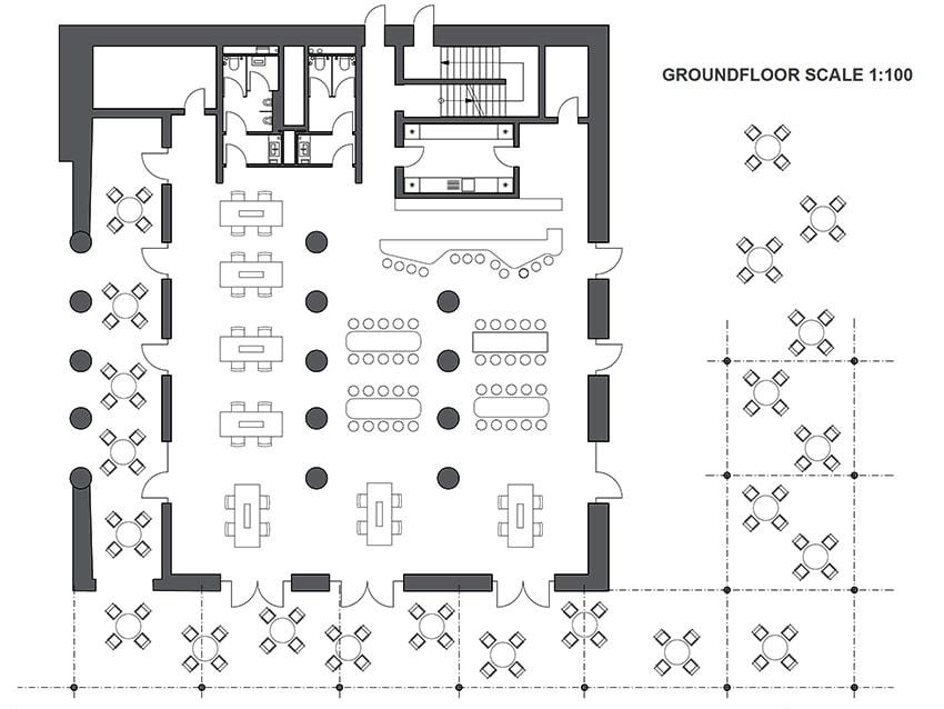 AutoCAD Beach Bar Floor Plan