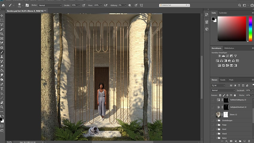 Photoshop Post Processing of 3D Rendering
