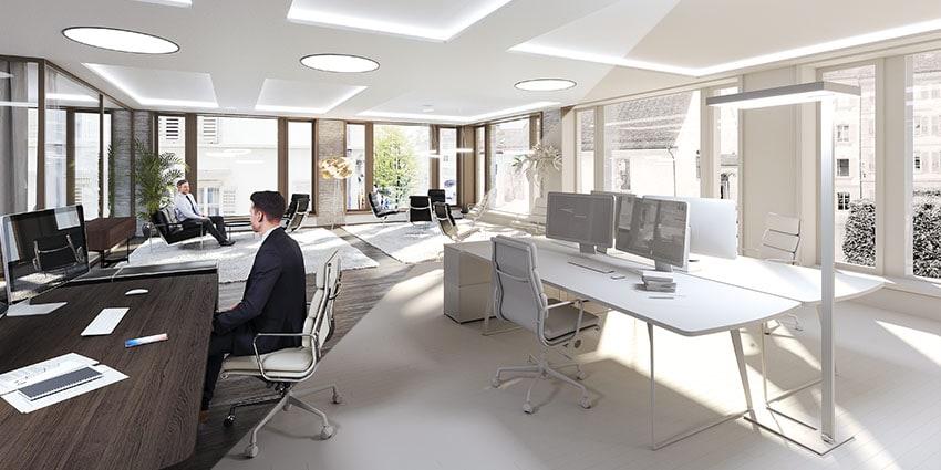 Interior Office Visualization Comparison