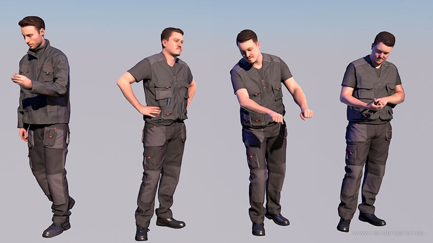 Renderpeople Worker Models Comparison