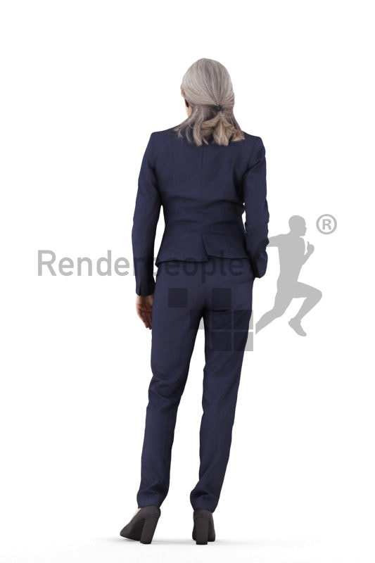 3d people business,3d elderly white woman standing