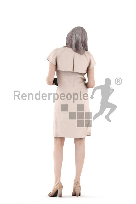 3d people casual, 3d white woman shopping