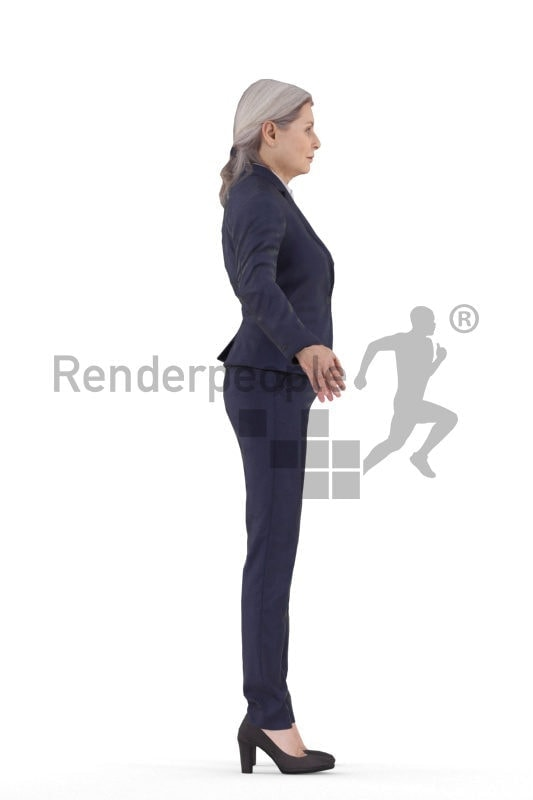 Rigged 3D People model for Maya and Cinema 4D – best ager woman, business suits