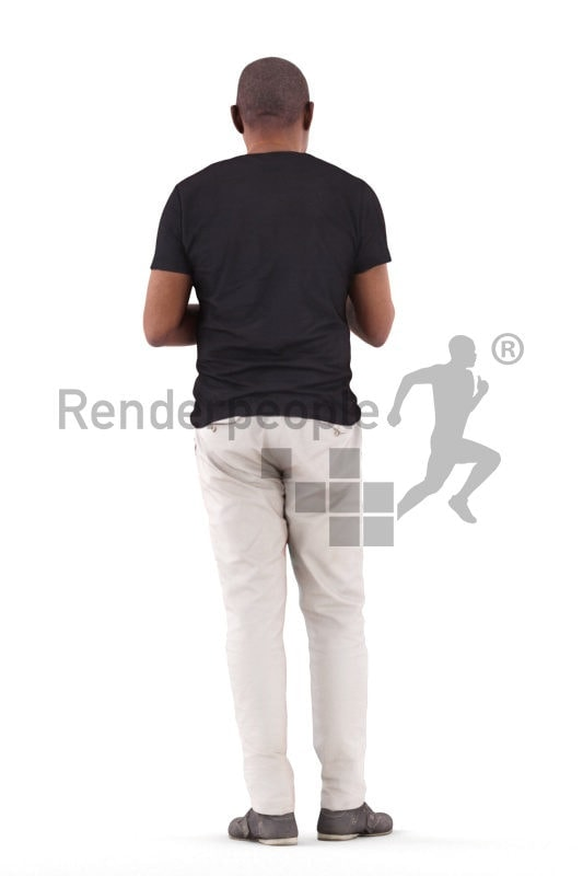 3d people casual, black 3d man standing and talking