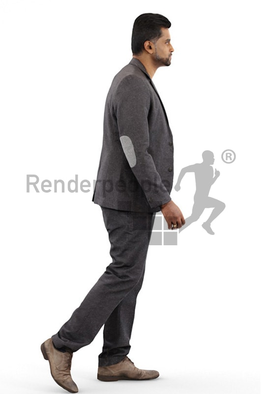 3d people business, indian 3d man wearing a suit