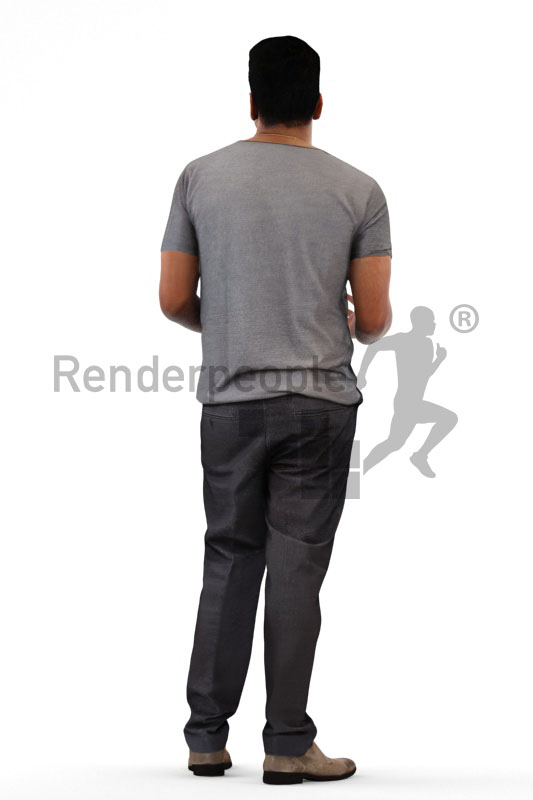 3d people casual, indian pakistani 3d man standing