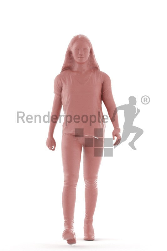 Animated 3D People model for visualization –