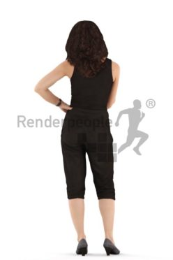 3d people casual. woman standing and debating