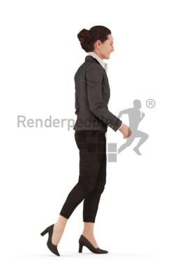 3d people business woman walking