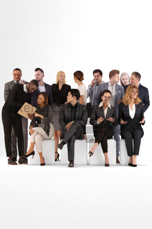 bundle of business 3d people