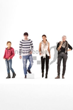 bundle of casually dressed 3d people