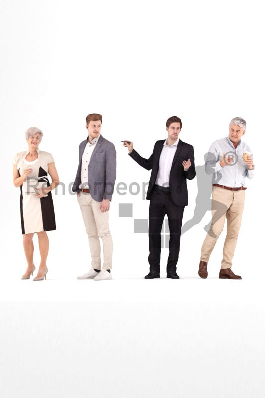 bundle of exhibition 3d people