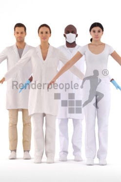 3d people healthcare, 3d rigged bundle