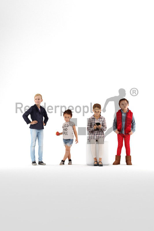 bundle of different 3d kids