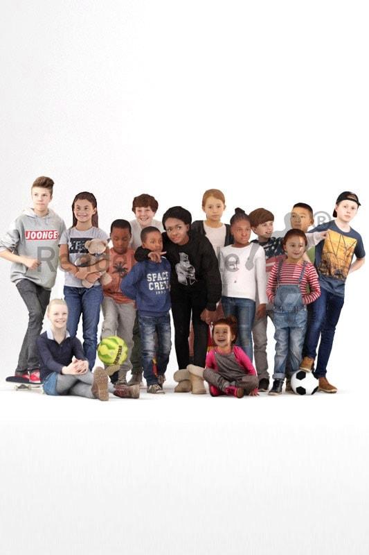 bundle of different 3d kids