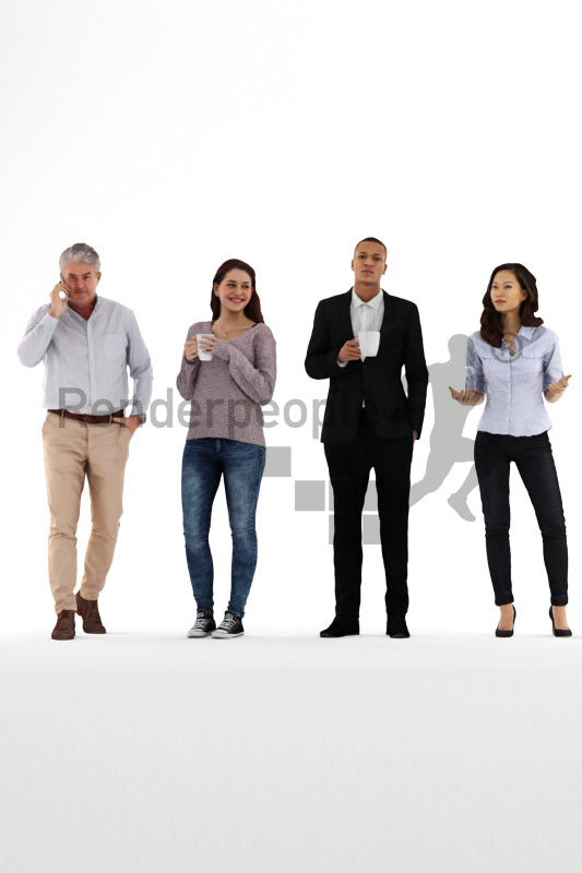 bundle of business and casual 3d people