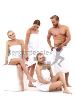 bundle of spa 3d people