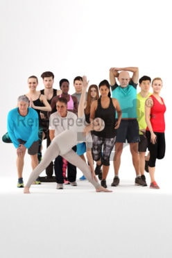 bundle of 3d people doing sport