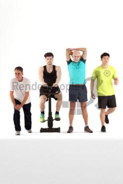 bundle of 3d people doing sport
