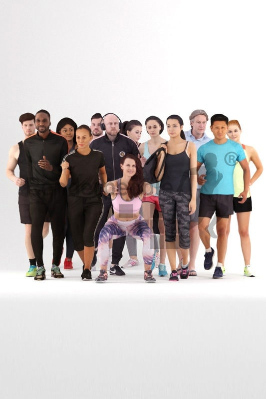 3d people sports, 3d human bundle for sports renderings