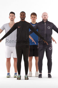3d people sports, 3d man rigged bundle