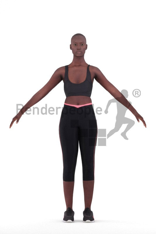 Rigged 3D People model for Maya and Cinema 4D – sports bundle