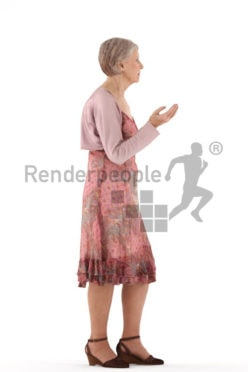 3d people casual, best ager woman standing and talking