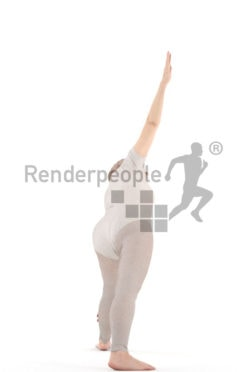 3d people sports, best ager woman doing yoga