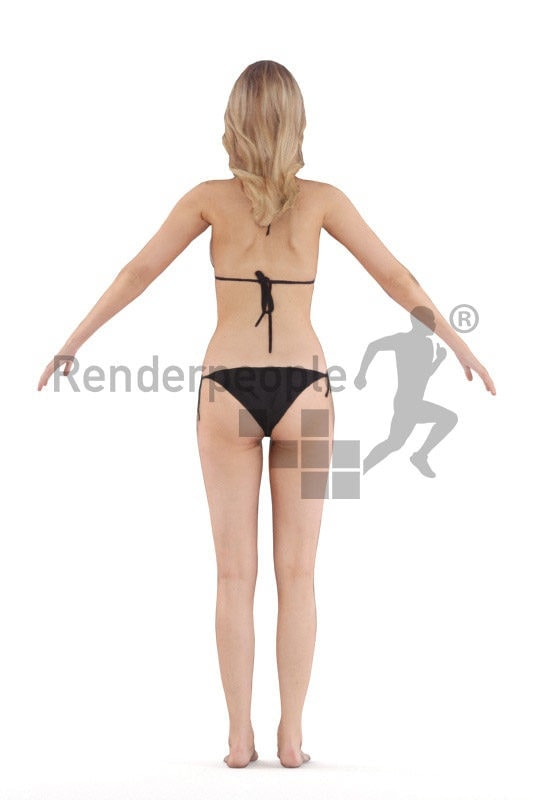 Rigged 3D People model for Maya and 3ds Max – european woman in bikini