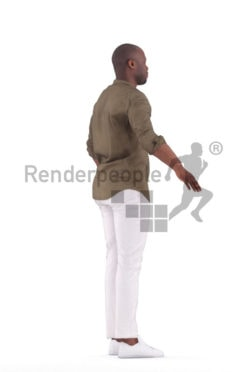3d people casual, 3d black man rigged