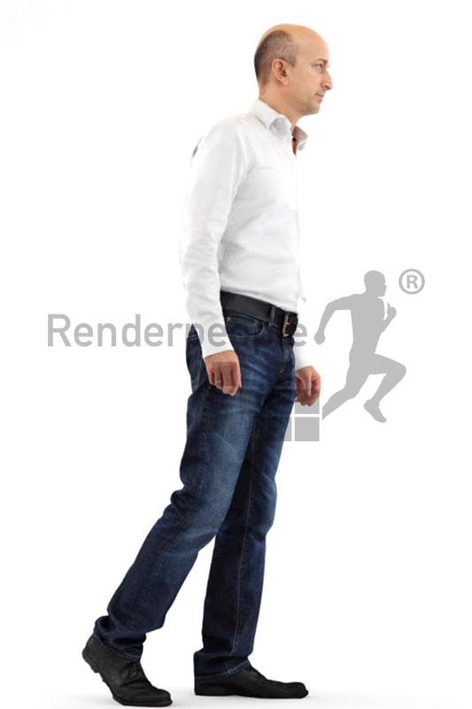 3d people business, middle eastern 3d man walking