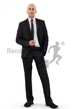 3d people business, middle eastern 3d man wearing a suit