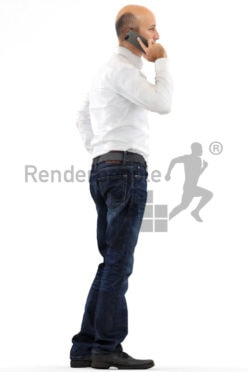 3d people business, middle eastern 3d man talking on the phone