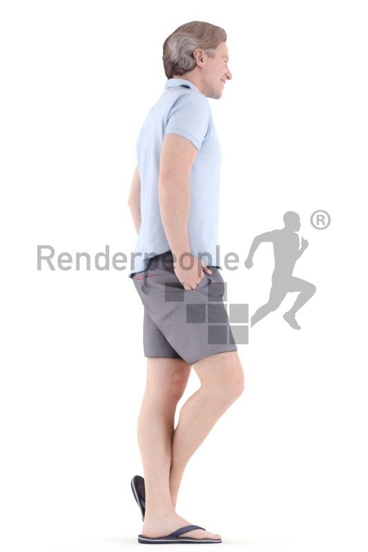 3d people casual, white 3d man standing and styling