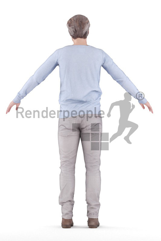 Rigged 3D People model for Maya and Cinema 4D – best ager white man in smart casual look
