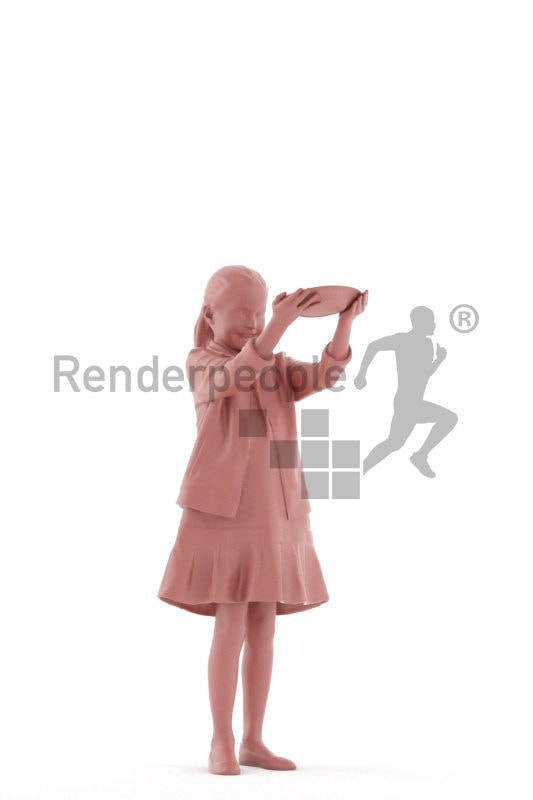 Posed 3D People model for renderings – girl