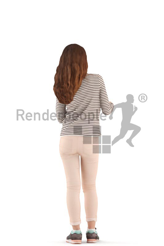 3d people casual, white 3d kid standing and debating