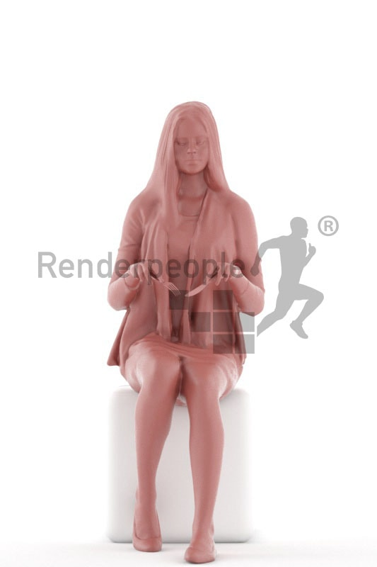 3d people kids, white 3d child sitting and eating