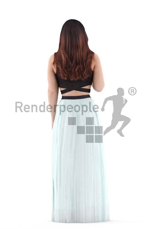 3d people casual, young woman standing an discussing
