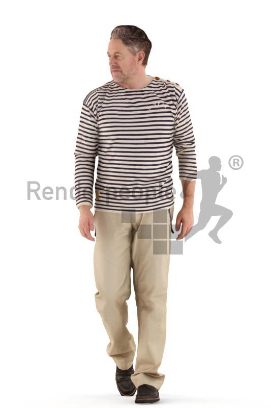 3d people casual, man walking