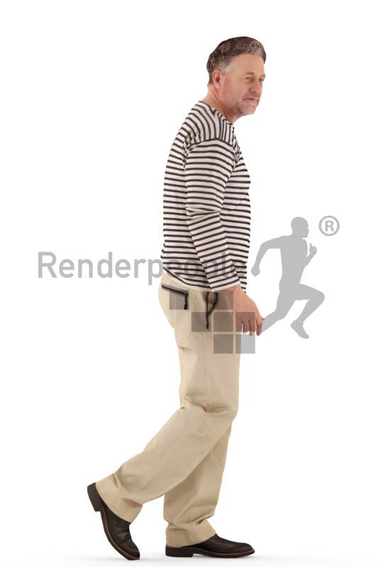 3d people casual, man walking