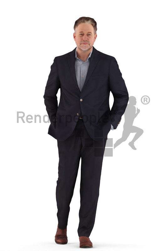 3d people business, man walking