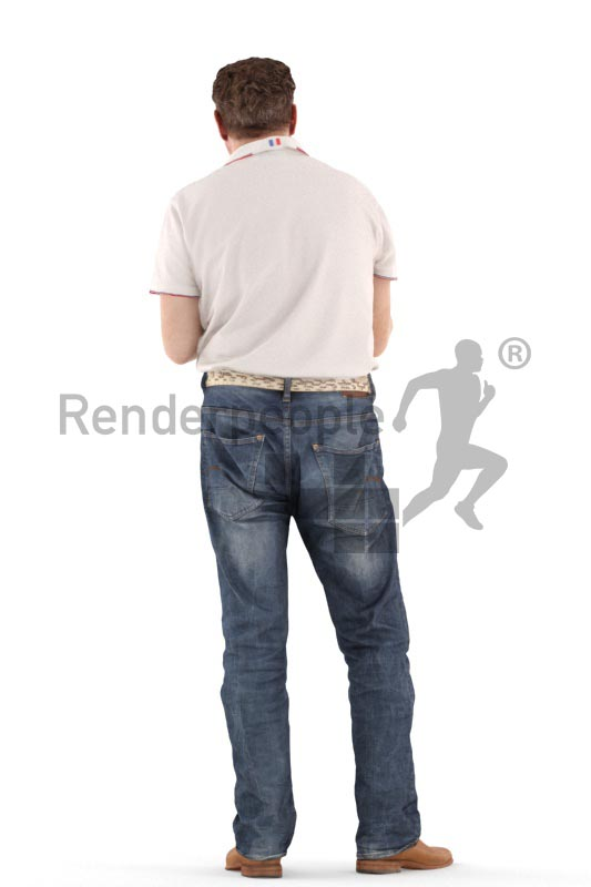 3d people casual, man standing