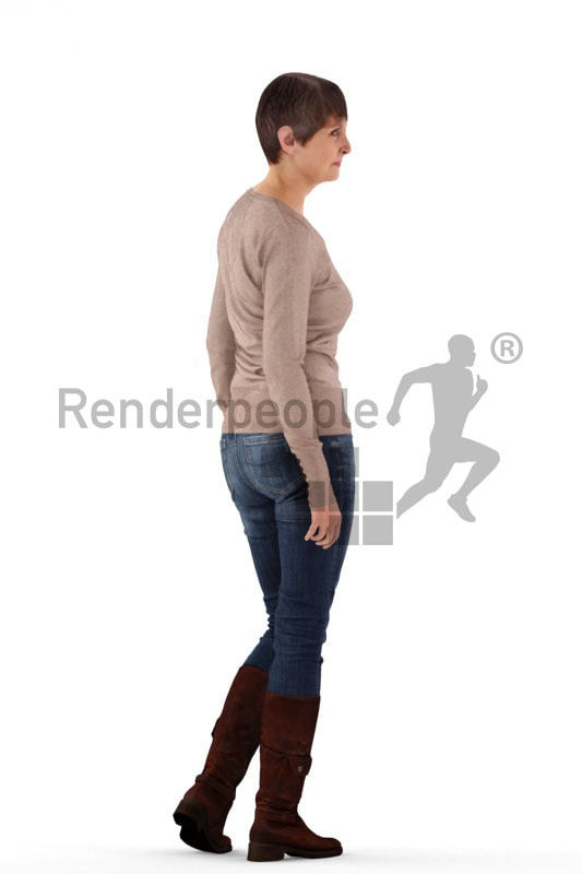 3d people casual, best ager woman standing