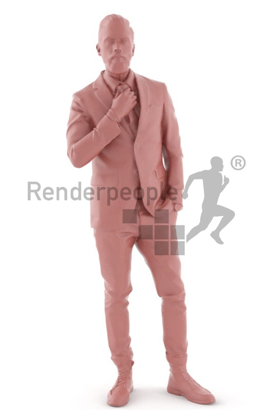3d people casual, white 3d man posing in front of a mirror