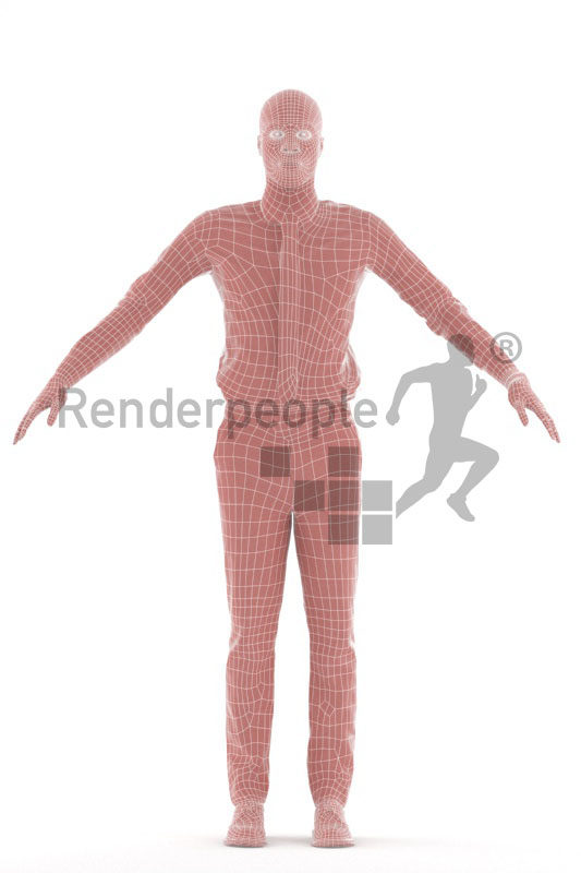3d people business,3d black man rigged