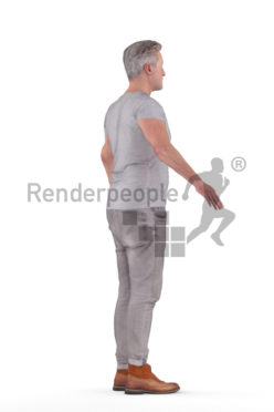 Rigged human 3D model by Renderpeople – european man in casual outfit