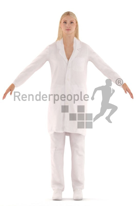 rigged 3d people, white rigged 3d woman business