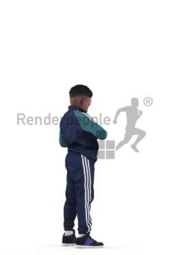 3d people sports, 3d black boy with a bottle